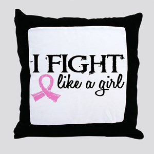 Licensed Fight Like a Girl 18.7 Throw Pillow