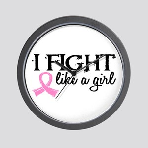 Licensed Fight Like a Girl 18.7 Wall Clock