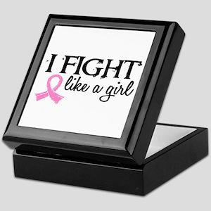 Licensed Fight Like a Girl 18.7 Keepsake Box