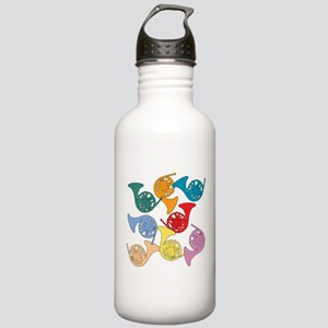 Colorful French Horns Stainless Water Bottle 1.0L
