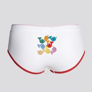 Colorful French Horns Women's Boy Brief