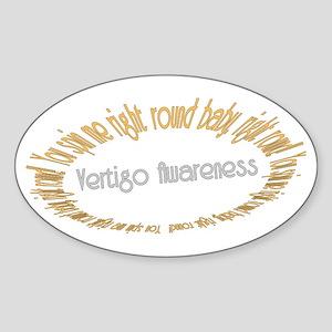 Vertigo Awareness Sticker (Oval)