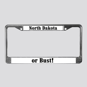 North Dakota or Bust! License Plate Frame