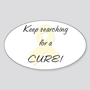 Searching for a Cure (MS) Sticker (Oval)