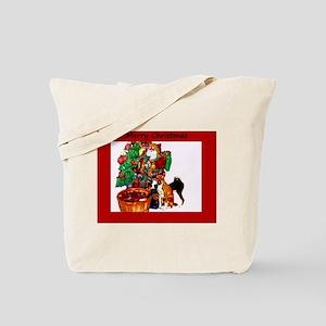 Basenji Christmas Tote Bag