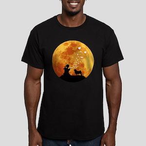 Pug Men's Fitted T-Shirt (dark)