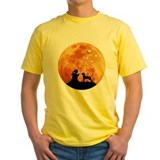 Coonhound dogs Mens Classic Yellow T-Shirts
