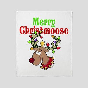Merry Christmoose Throw Blanket