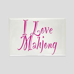 I Love Mahjong Rectangle Magnet