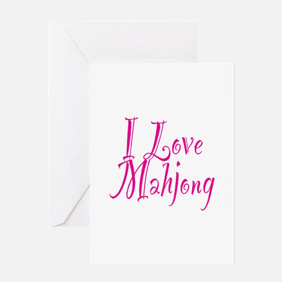 I Love Mahjong Greeting Card
