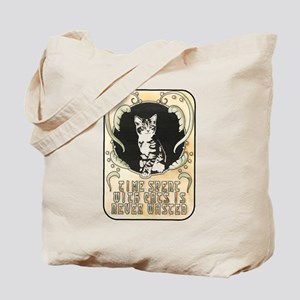 Time spent with cats is never wasted Tote Bag