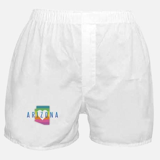 Arizona Heart Rainbow Boxer Shorts