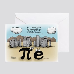 Pi at Stonehenge Greeting Card