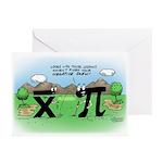 Golf Negative Skew Greeting Cards (Pk of 10)