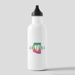 Arizona Heart Rainbow Stainless Water Bottle 1.0L