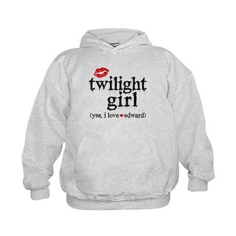 Twilight Girl Lips Kids Hoodie