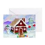 gingerbread house(rs) Greeting Cards