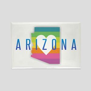 Arizona Heart Rainbow Magnets