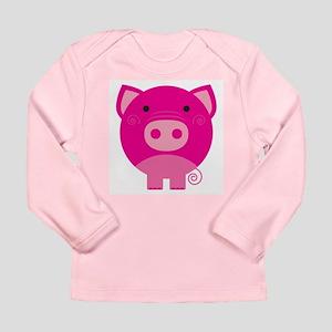 Pink Pig Long Sleeve Infant T-Shirt