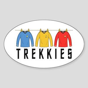 Trekkies' Shirts Sticker (Oval)