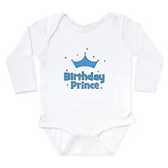 Birthday Prince! w/ Crown Long Sleeve Infant Bodys