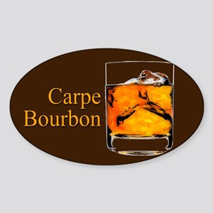 Carpe Bourbon Sticker (Oval)