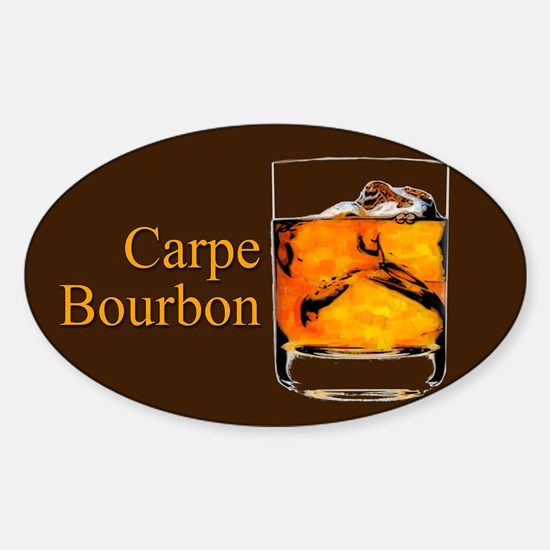 Carpe Bourbon Sticker (Oval)