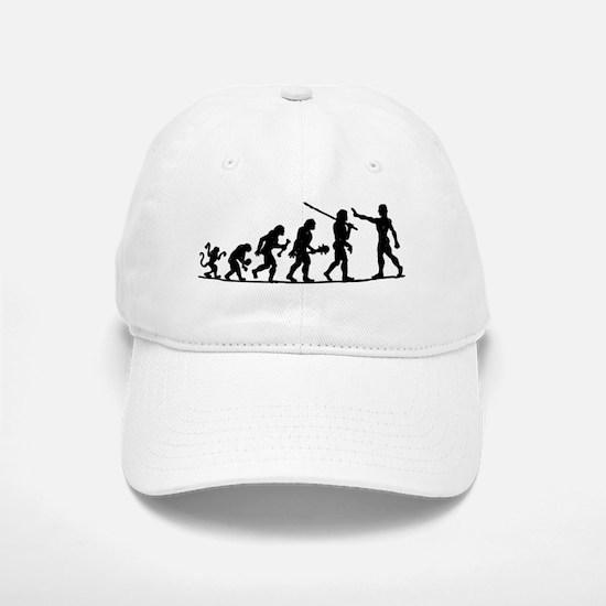Evoluition of Man Baseball Baseball Cap