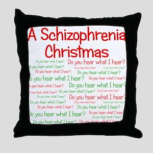 Schizophrenia Christmas Throw Pillow