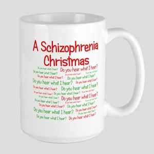 Schizophrenia Christmas Large Mug