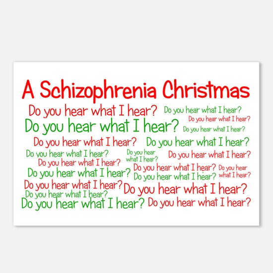 Schizophrenia Christmas Postcards (Package of 8)