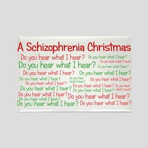Schizophrenia Christmas Rectangle Magnet