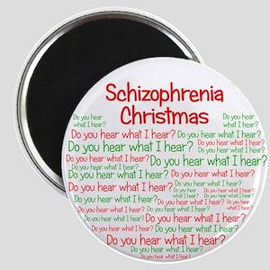 Schizophrenia Christmas Magnet