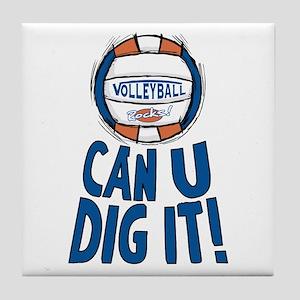 Can U Dig It B/O Tile Coaster