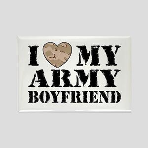 I Love My Army Boyfriend Rectangle Magnet