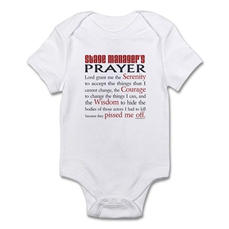 Stage Manager's Prayer Infant Bodysuit