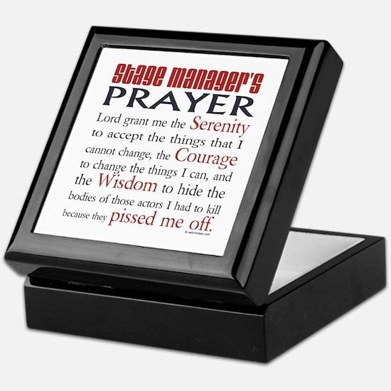 Stage Manager's Prayer Keepsake Box