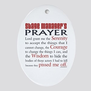 Stage Manager's Prayer Ornament (Oval)