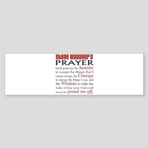 Stage Manager's Prayer Sticker (Bumper)