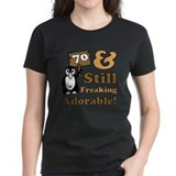 70th birthday women Women's Dark T-Shirt