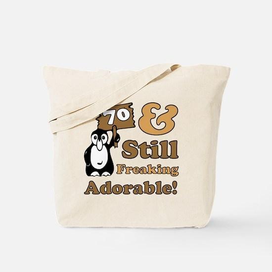 Adorable 70th Birthday Tote Bag