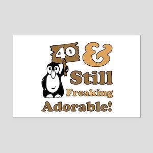 Adorable 40th Birthday Mini Poster Print