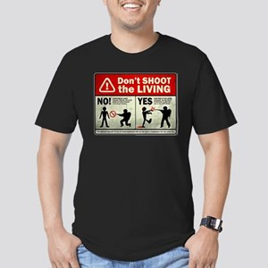 Don't Shoot the Living Zombie Men's Fitted T-Shirt