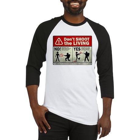 Don't Shoot the Living Zombie Baseball Jersey