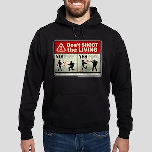 Don't Shoot the Living Zombie Hoodie (dark)