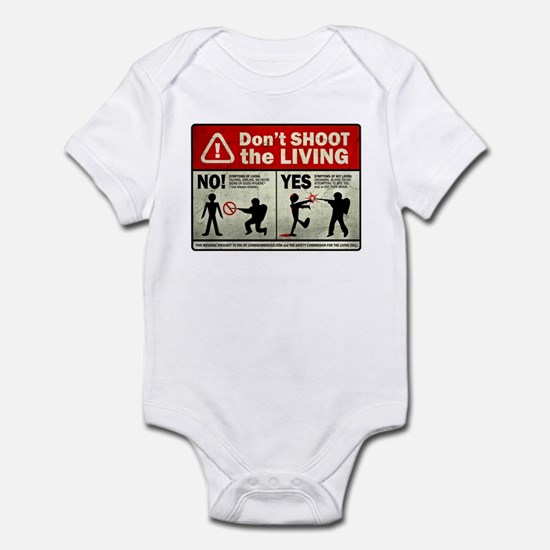 Don't Shoot the Living Zombie Infant Bodysuit