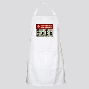 Don't Shoot the Living Zombie Apron