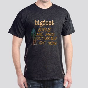 Bigfoot Has Pictures Dark T-Shirt
