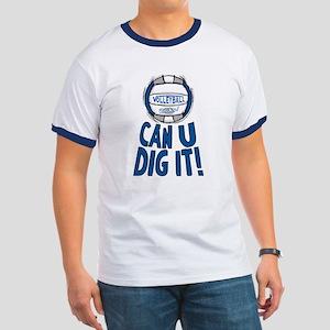Can U Dig It B/Grey Ringer T