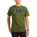 Peace Love Climb Organic Men's T-Shirt (dark)